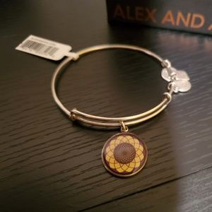 Alex and Ani Sunflower charm bangle